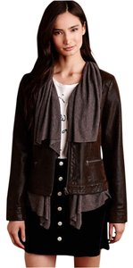 Anthropologie Brown, Gray Leather Jacket