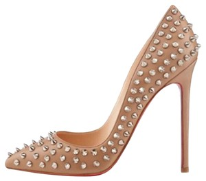 Christian Louboutin Louboutins Pigalle Heels Beige Platforms