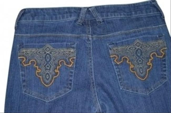 Evil Gemelli Denim Skinny Jeans Size 5/6 Embroidered Pockets Waist 29 Low-rise Skinny Jeans-Dark Rinse