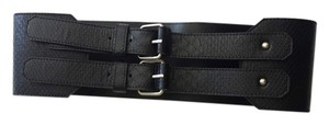 BCBGMAXAZRIA Small Wide Black Belt