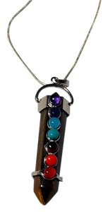 Other Sterling Silver Tiger's Eye Gemstone Chakra Necklace Healing. N180