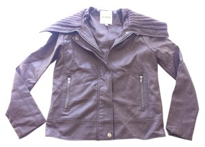 BB Dakota Faux Brown Leather Jacket