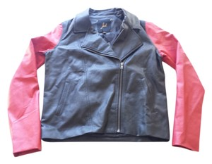 BB Dakota Faux Black Red Leather Jacket
