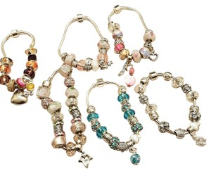 New European Charm Bracelet 19 Removable Charms J1986