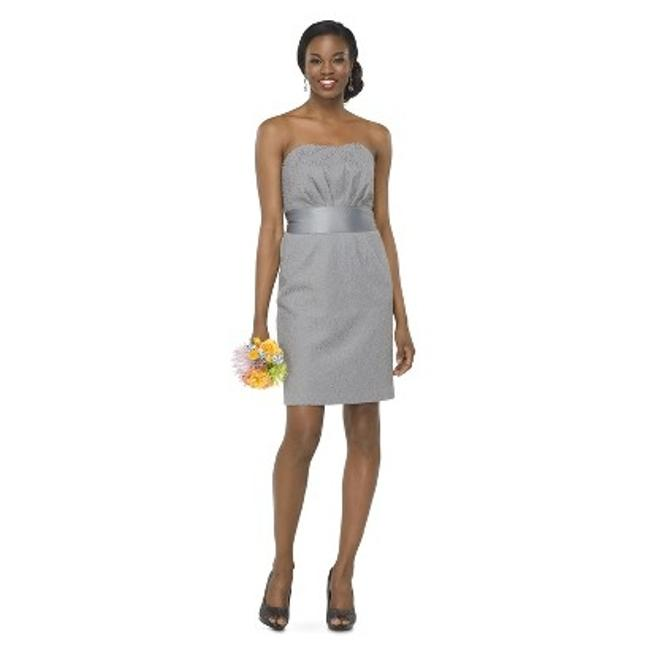 Item - Grey 69% Cotton 74% Nylon 4% Other Tevolio Women's Lace Strapless Formal Bridesmaid/Mob Dress Size 6 (S)