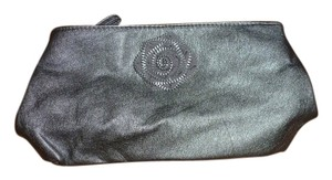 Rose Zipper Paris Grey Clutch