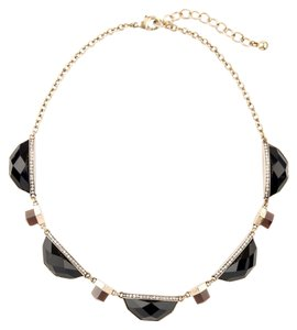 Black Stone Pave Statement Necklace