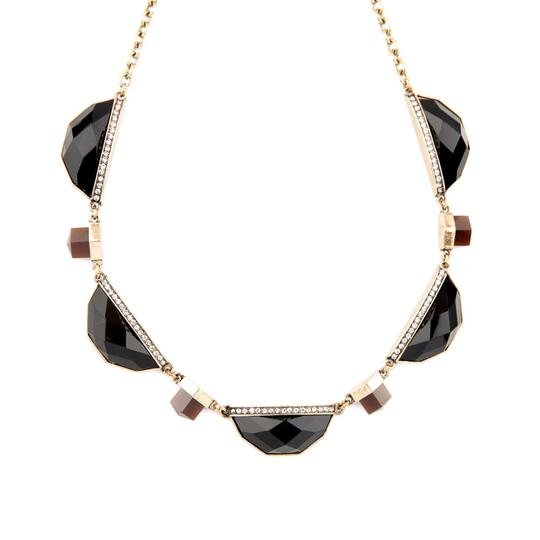 Other Black Stone Pave Statement Necklace