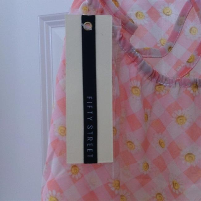 Fifty Street Top Pink, White, Yellow