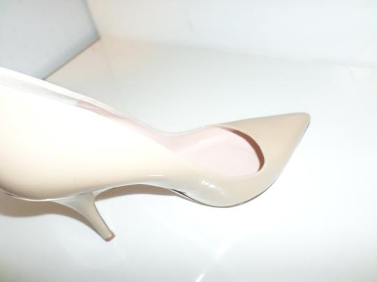 Kate Spade Laser Cut Lana Patent Leather Nude Pumps