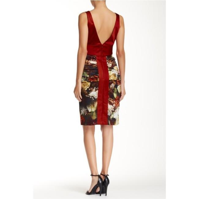 Theia Silk Floral Wedding Evening Party Dress