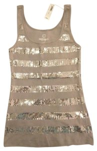 Old Navy Sparkle Silver Glitter Top Gray