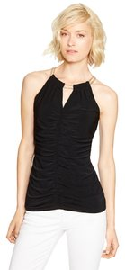 White House | Black Market Chain Cami Ruched Top Black