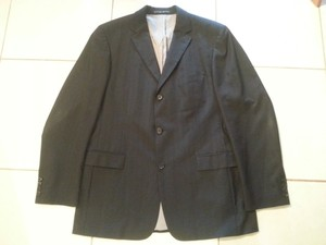 Hugo Boss Hugo Boss Black Pinstripe Suit Coat