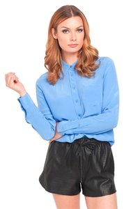 Equipment Silk Button Down Top hydrangea