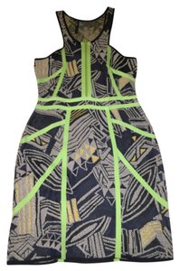 Cut25 short dress Black, Green on Tradesy