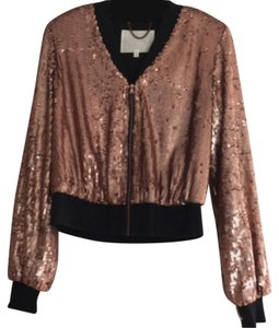 Rachel Roy Sequin Sequin Rose Bronze / Black Jacket