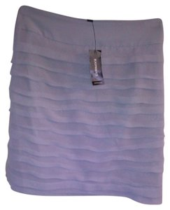 Express Ruched Tiered Mini Skirt Gray Ruched