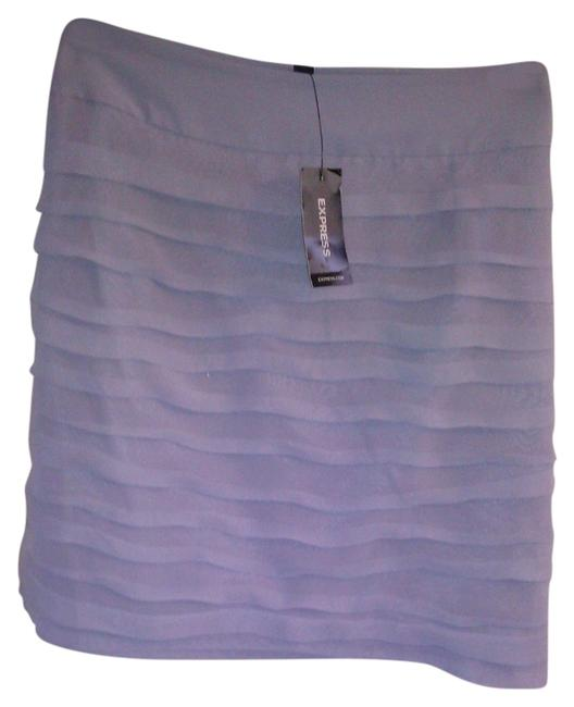 Preload https://item2.tradesy.com/images/express-gray-ruched-miniskirt-size-10-m-31-11990071-0-1.jpg?width=400&height=650