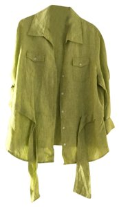 Jones New York Button Down Shirt Green