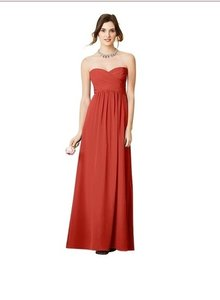 Alfred Angelo Persimmon Chiffon 7289l Formal Bridesmaid/Mob Dress Size 2 (XS)