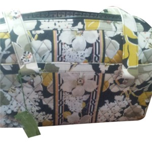 Vera Bradley Satchel in Black/Dogwood