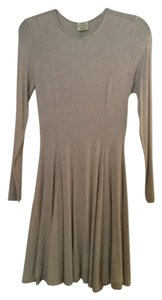 Torn by Ronny Kobo Longsleeve Pleated Knit Dress