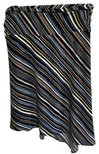 BCBG Paris Striped Stretchy Skirt multi