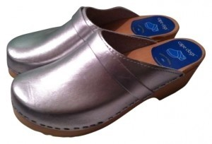 Cape Clogs Silver Mules