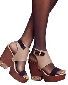 Charles David Adelaide Taupe/brown Made In Italy For Free People Mules