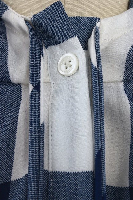 MICHAEL Michael Kors Hoodie Plaid Button Down Shirt Blue, White