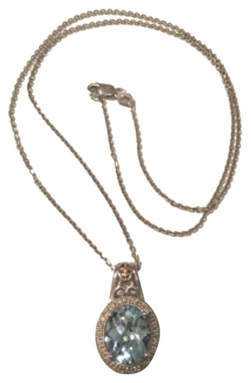 Preload https://img-static.tradesy.com/item/11991511/blue-aqua-marine-stone-pendant-necklace-0-1-540-540.jpg