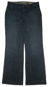 Gap Front Slant Pockets Trouser/Wide Leg Jeans-Medium Wash
