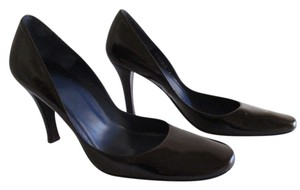 Delman Womens Leather Soft Toe Ebony Pumps