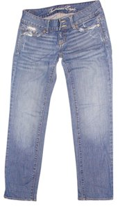 American Eagle Outfitters Low Rise Capri/Cropped Denim-Medium Wash