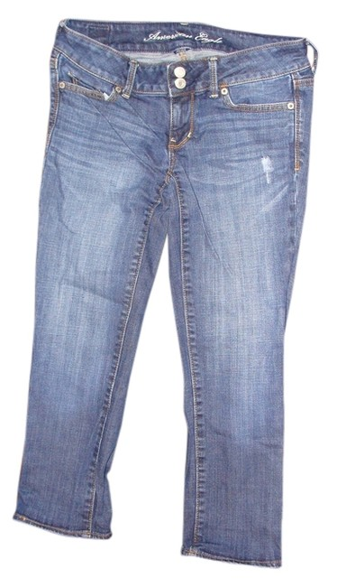 Item - Blue Dark Rinse Boy Fit Crop Regular Capri/Cropped Jeans Size 27 (4, S)