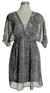 Romeo & Juliet Couture short dress Gray Silk Blend Empire Waist Chffon Phyton Print on Tradesy