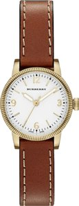 Burberry Burberry Women's The Utilitarian Brown Leather & Gold Tone Stainless Steel Watch BU7865