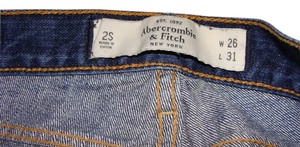 Abercrombie & Fitch Distressed Low Rise Boot Cut Jeans-Distressed