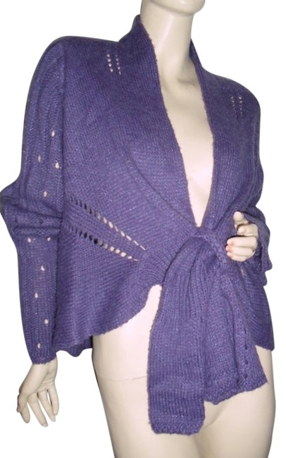 Preload https://item1.tradesy.com/images/purple-shrug-bolero-large-cape-fashionista-style-sweaterpullover-size-12-l-11992135-0-1.jpg?width=400&height=650