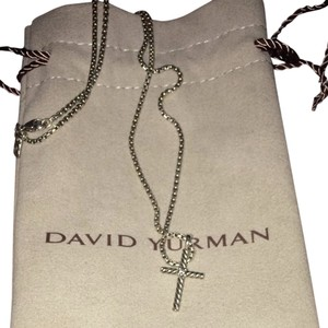 David Yurman Cable Necklace With Diamond Cross