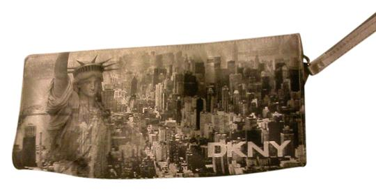 DKNY Chic Nylon silver/gray Clutch