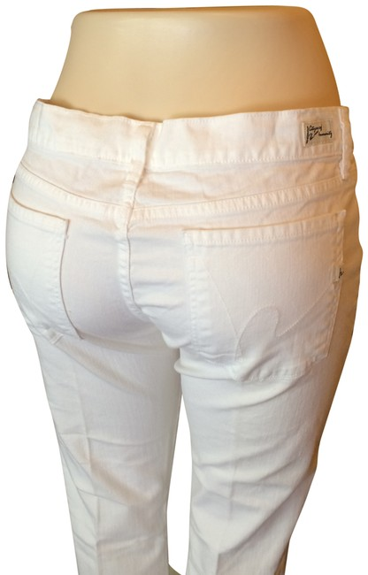 Item - White Kelly Low-rise In Santorini Boot Cut Jeans Size 31 (6, M)