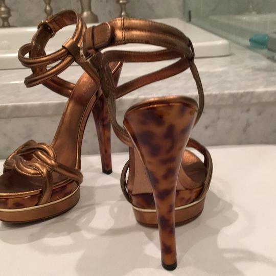 Gucci Bronze patent leather Platforms