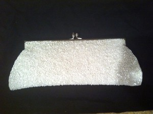 Moyna Beaded Classic White Clutch