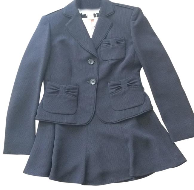 Item - Navy and Pink Skirt Suit Size Petite 4 (S)
