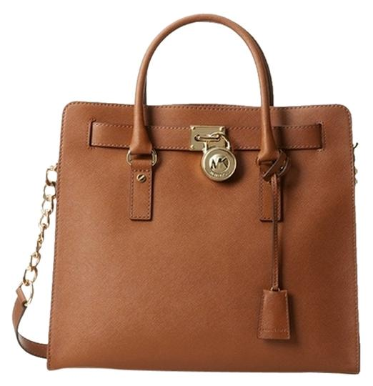 Preload https://item5.tradesy.com/images/michael-kors-new-with-tags-and-dust-30s2ghmt3l-brown-leather-satchel-11993464-0-1.jpg?width=440&height=440
