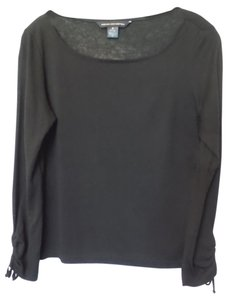 French Connection Silky Light Long Sleeve Top Black