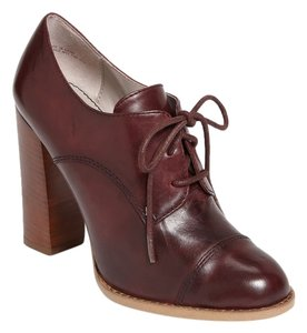 Nordstrom Hinge Oxford Lace Up Pumps Burgundy Boots