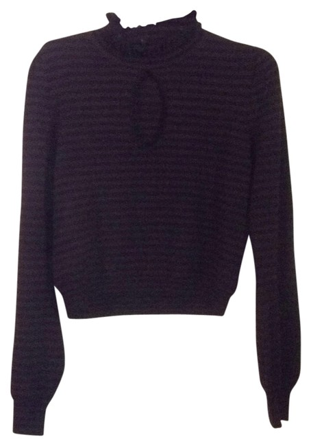 Preload https://item1.tradesy.com/images/nanette-lepore-black-and-brown-sweaterpullover-size-10-m-11993905-0-1.jpg?width=400&height=650